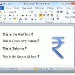 rupee_windows_font