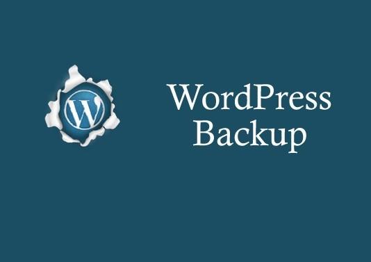 backup your data on wordpress