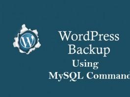 backup Wordpress Database using mysql command